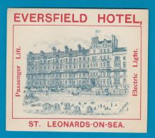Collectible Hotel luggage label  England Eversfield St.Leonards #642
